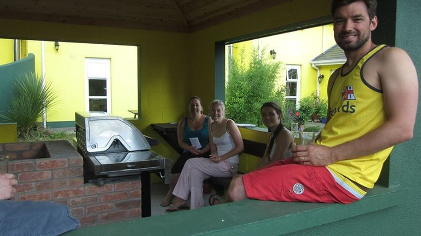 Guests enjoying the purpose-built bbq house.