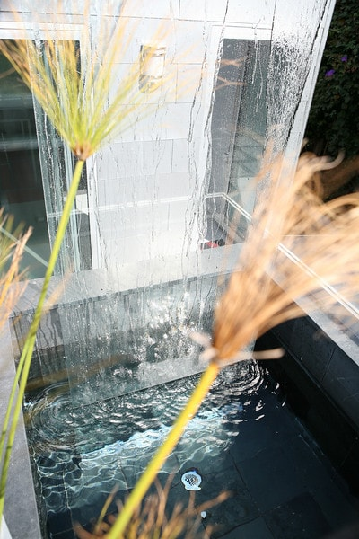 Beautiful and relaxing water feature directly outside the front door