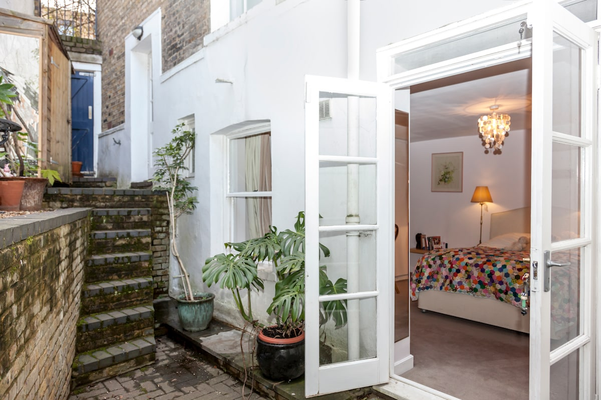 Here is your own private courtyard where you can access your bedroom.