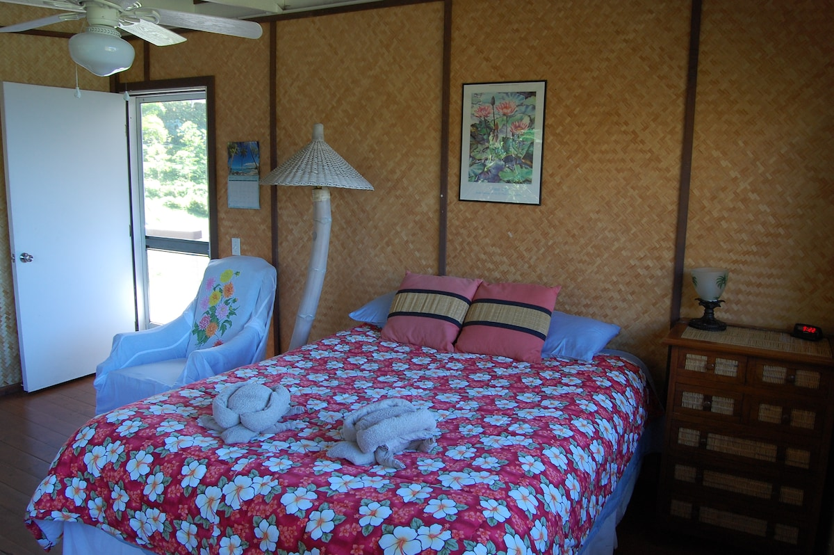 A comfortable queen sized bed in your private room.