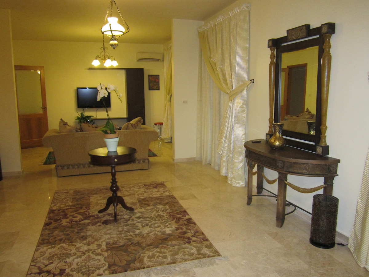 Living room with LCD TV & Cable TV