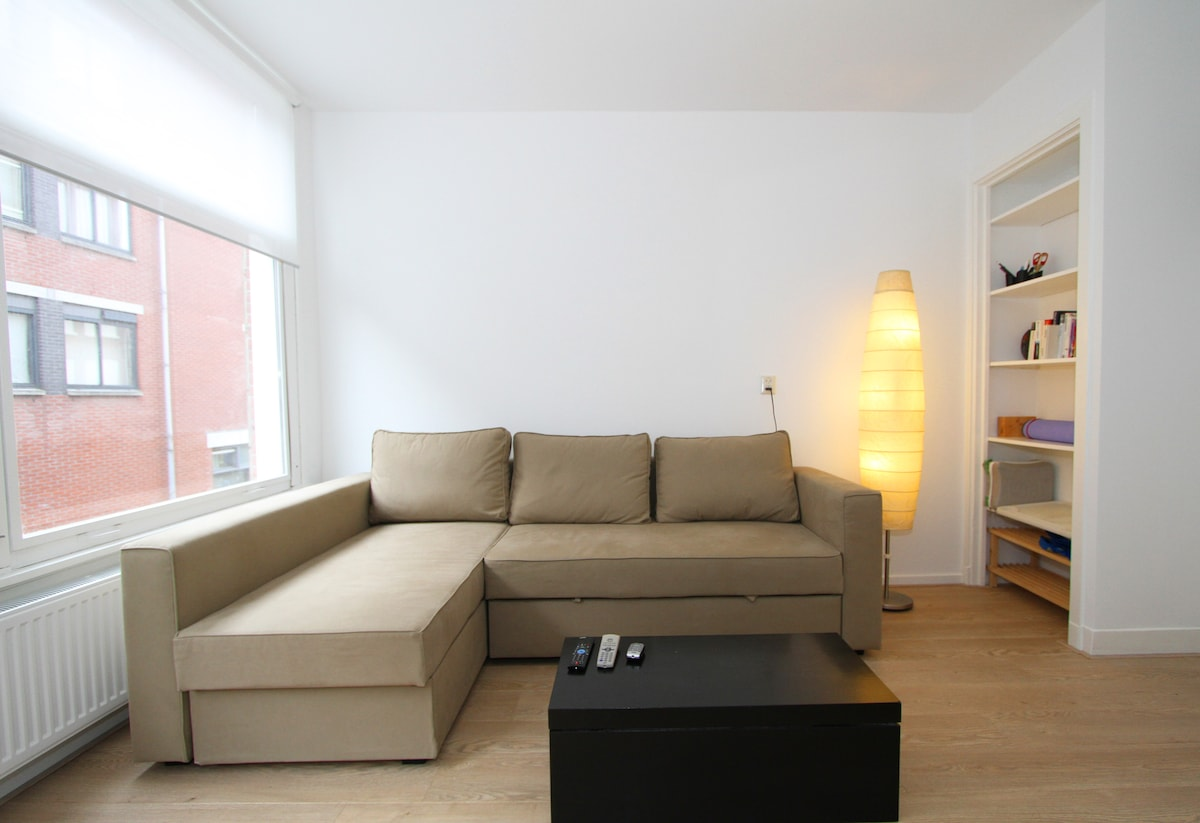 Comfortable sofa that converts easily to a double bed.