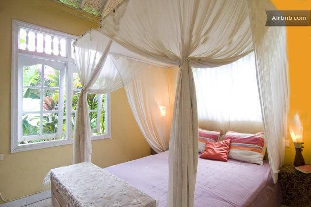 Casa Mia BnB, Room Matahari (means Sun) downstair, with  garden view.