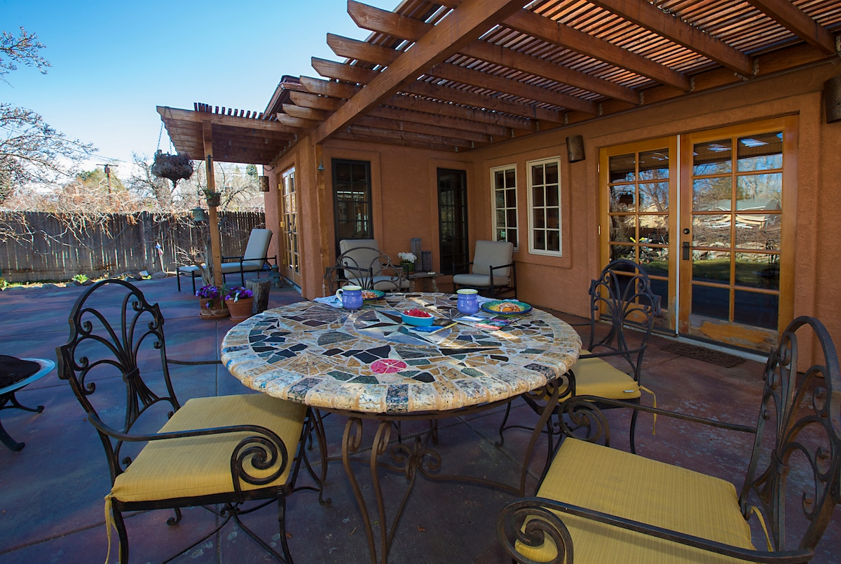 Dining al fresco on the large patio.