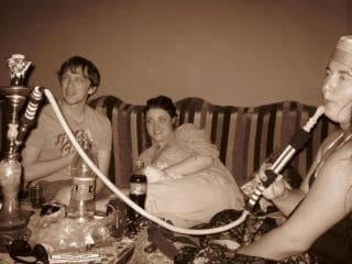 chilling with a shisha and new friends