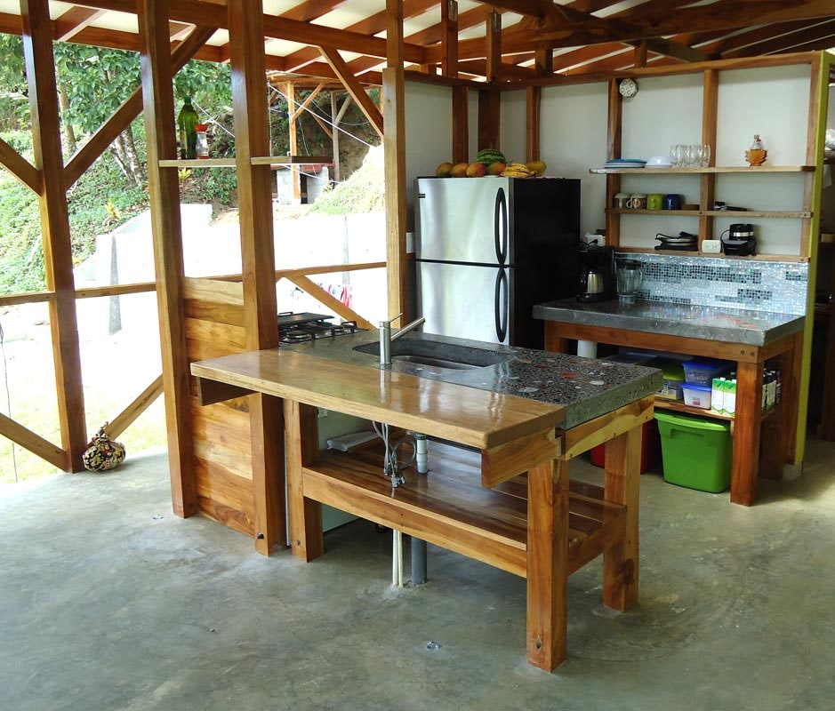 The open concept kitchen.