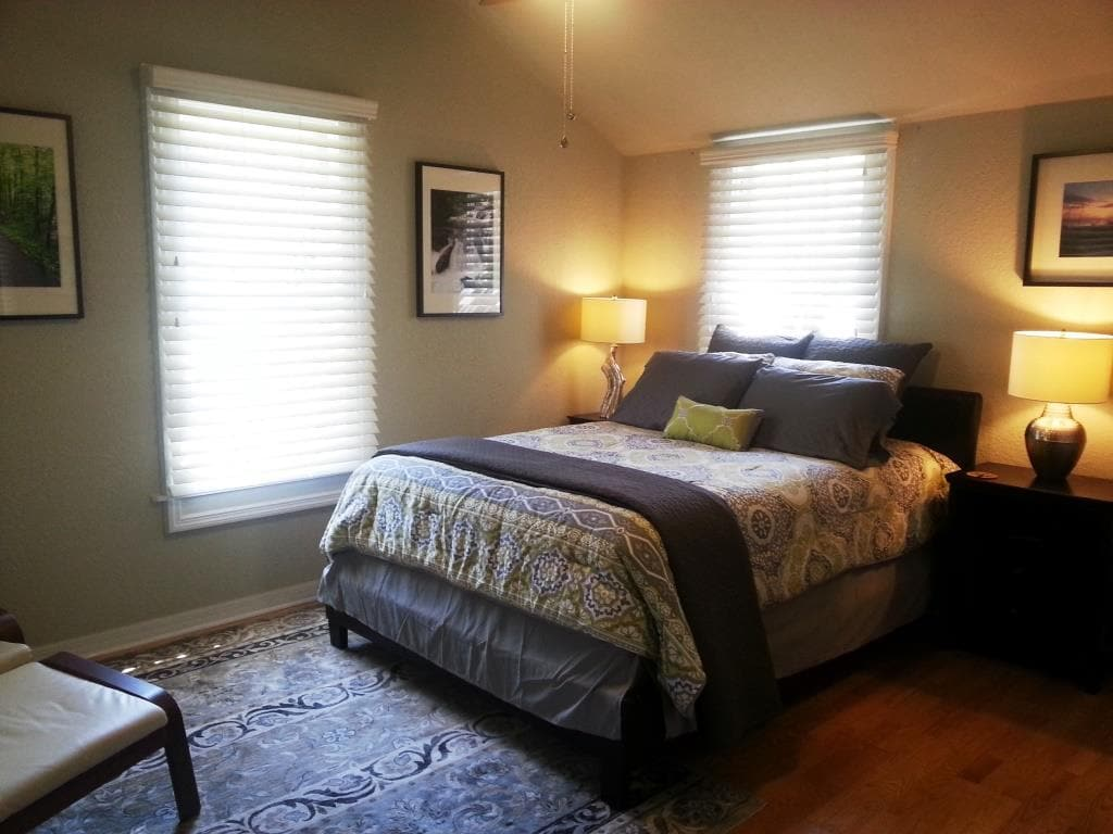 Bedroom - New queen sized bed, and surrounded by private conservation area
