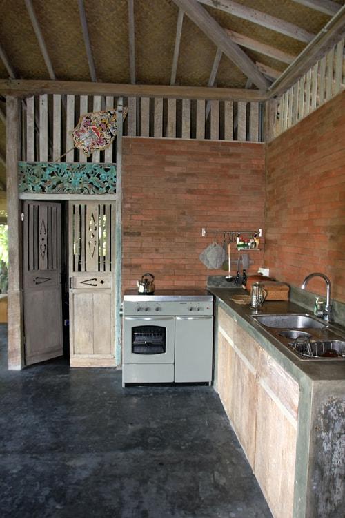 Kitchen with separate storage