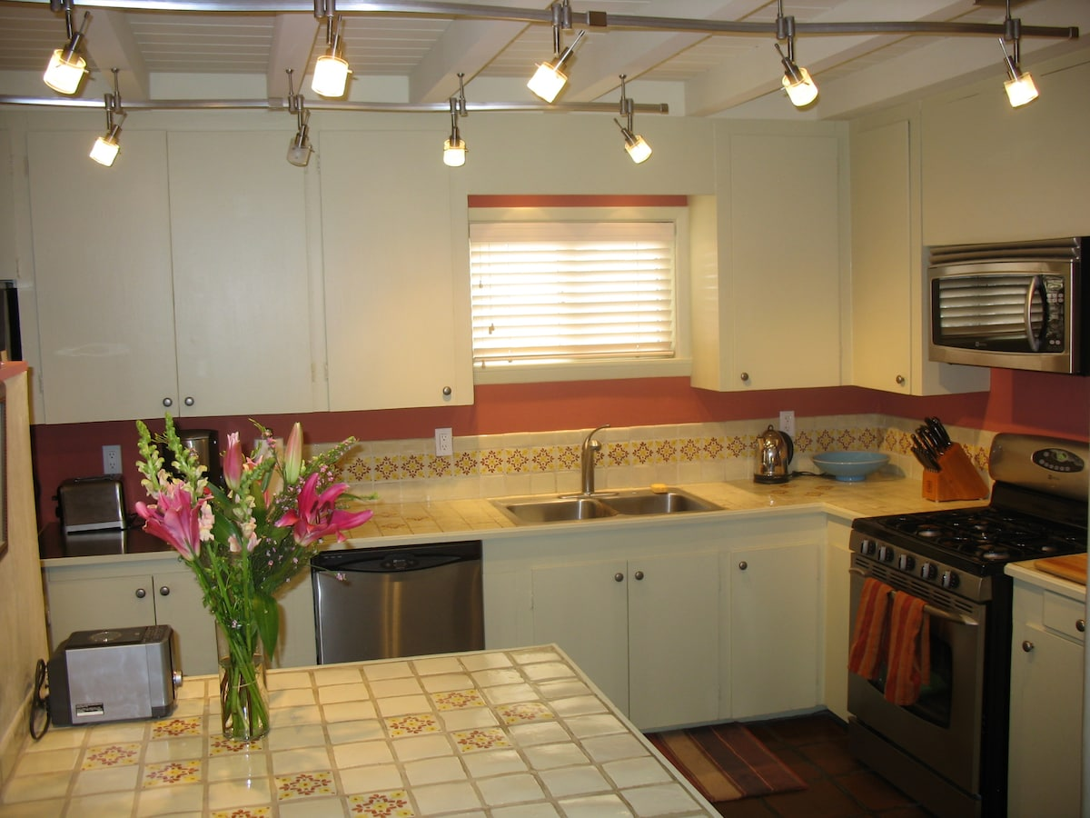 kitchen all stainless appliances gas stove