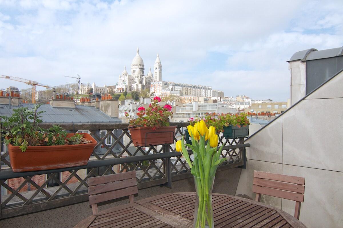 CASA SOPHIE MontmartreTerrace 9p