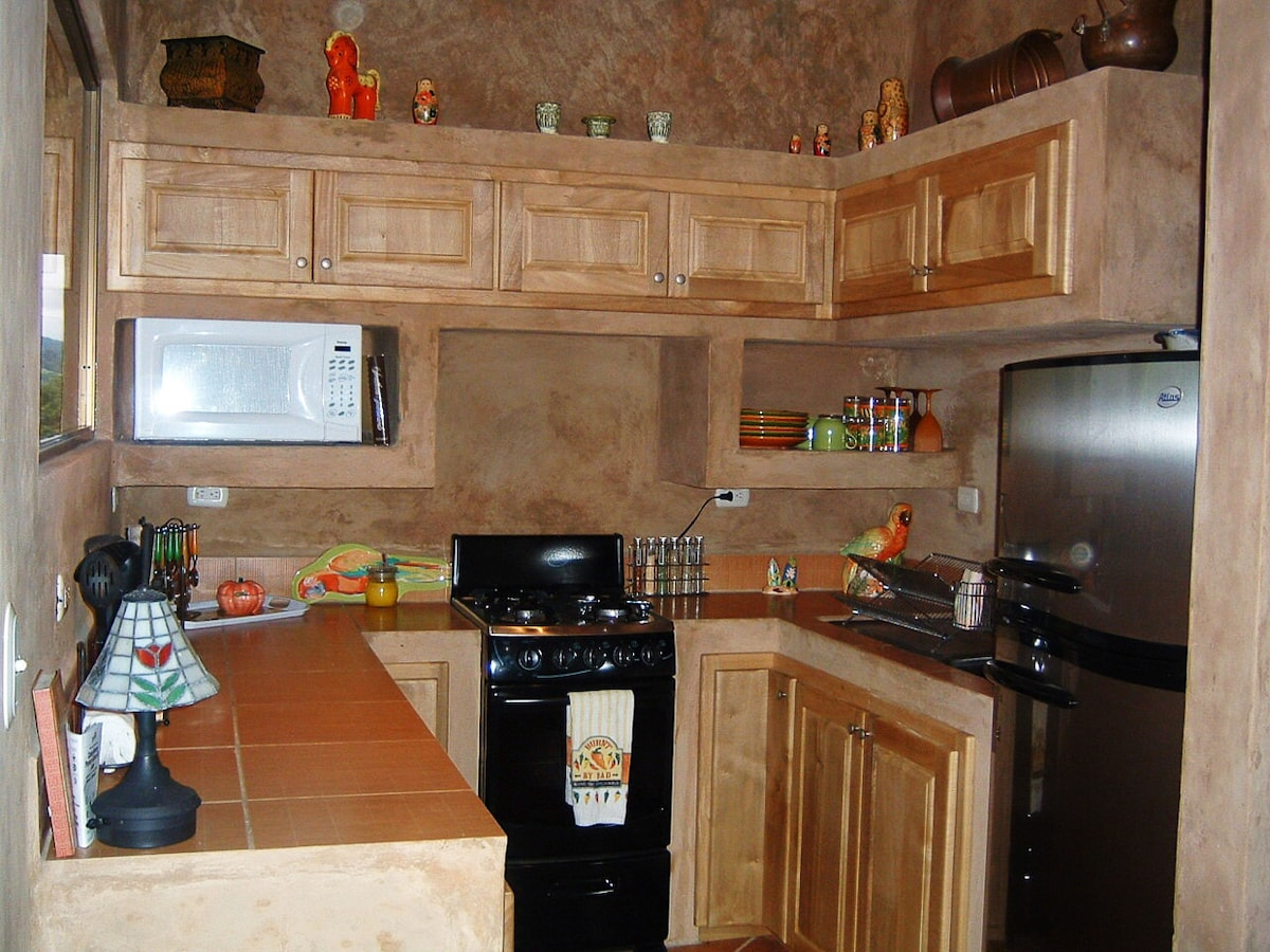Full equipped kitchen in the 1 BR villa