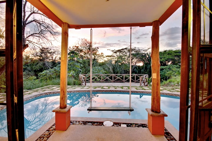 Pool view from master bedroom.
