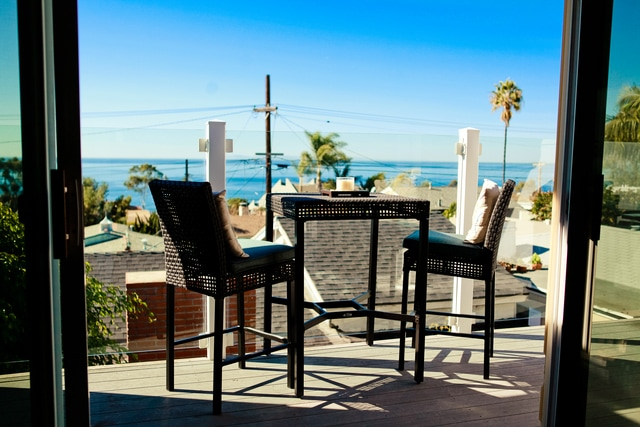 Beautiful ocean view deck off of living area with BBQ.