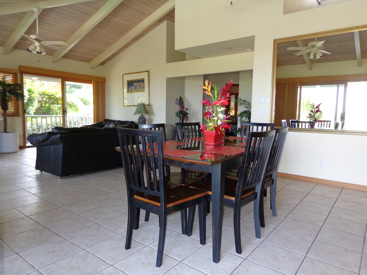 Large living area on the second floor, just outside is the wrap around lanai.