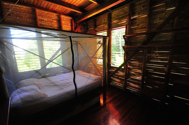 Custom netted beds with built-in lights and fans by guest James MacCraw