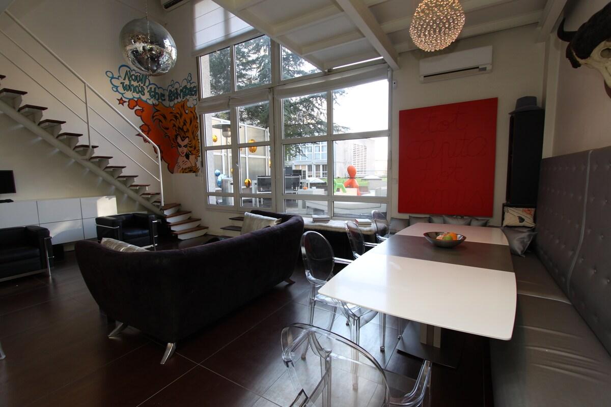 salle à manger et salon / dining room and living room