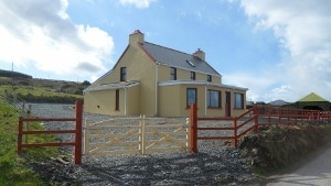 Exterior of Cappa House, refurbished farmhouse on Beara Way Walkway