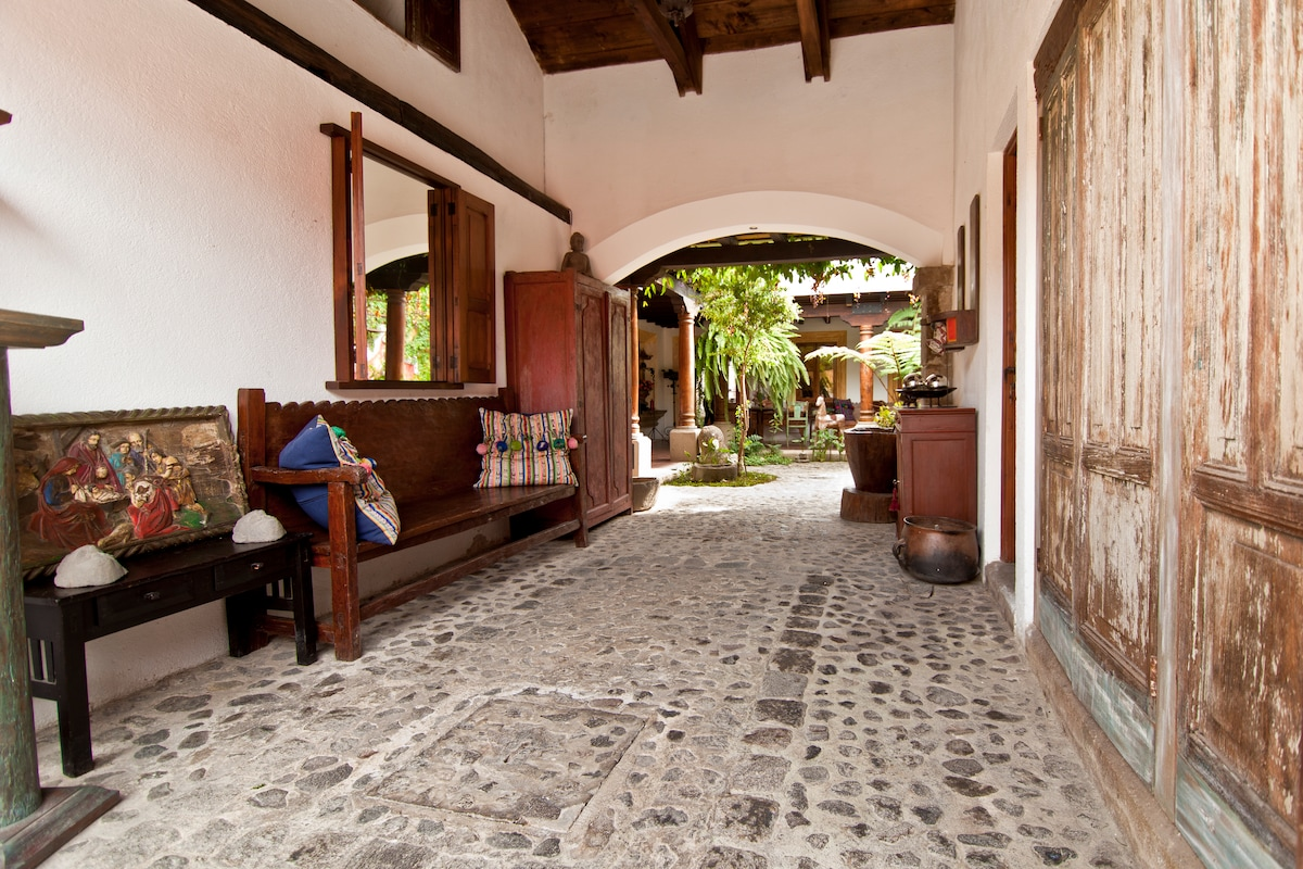 Entrance to the house and patio