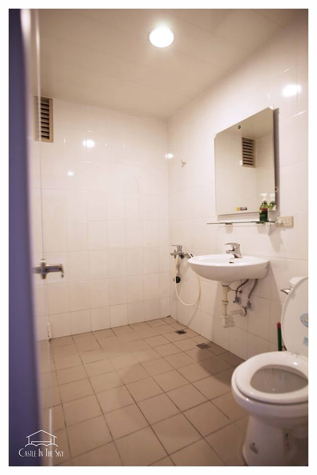 Brand new bathroom, shared with only one other person (and he is a neat freak)