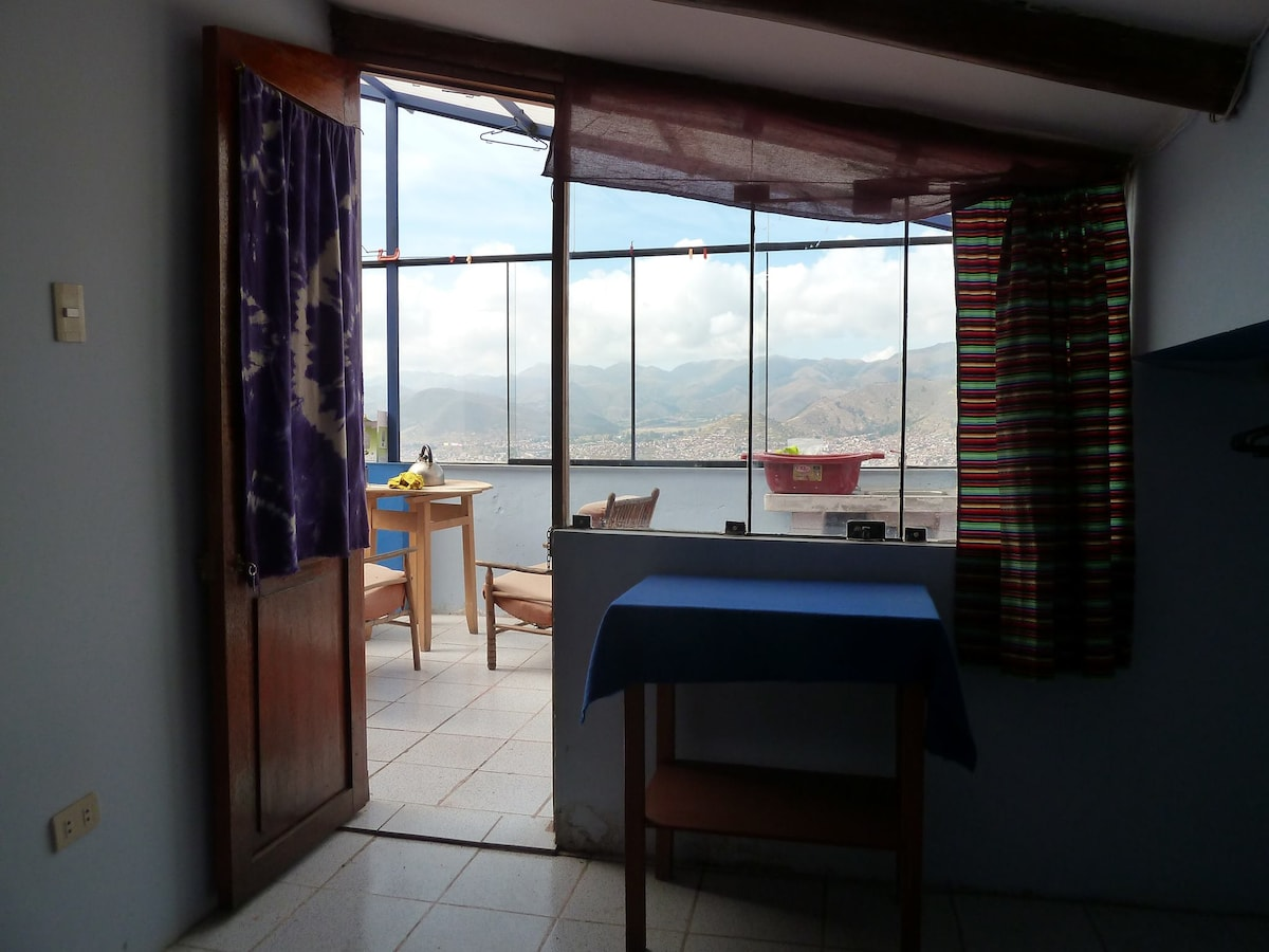View from the room - Cusco & beyond