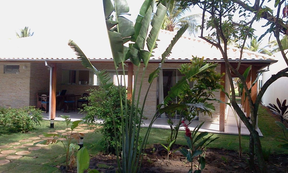 Private garden room in beach villa