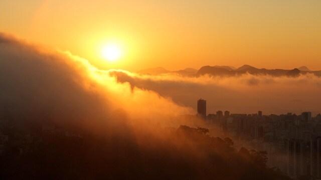 mist in the sunrise