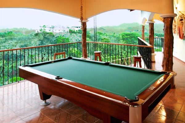 9 foot pool table overlooking the valley. Drink a beer & crack a rack! : )