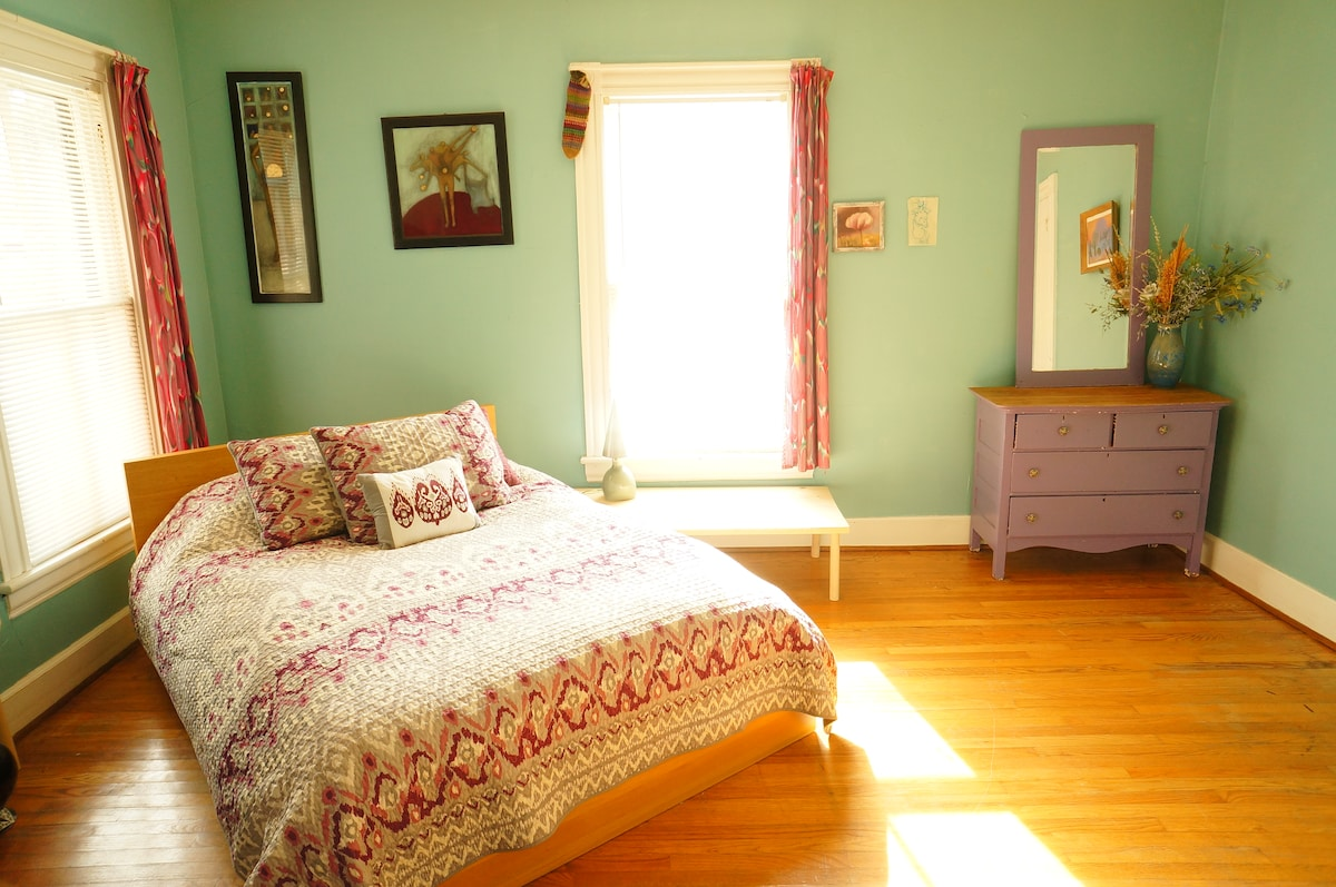Main guest bedroom, I replaced the second dresser with a love-seat.