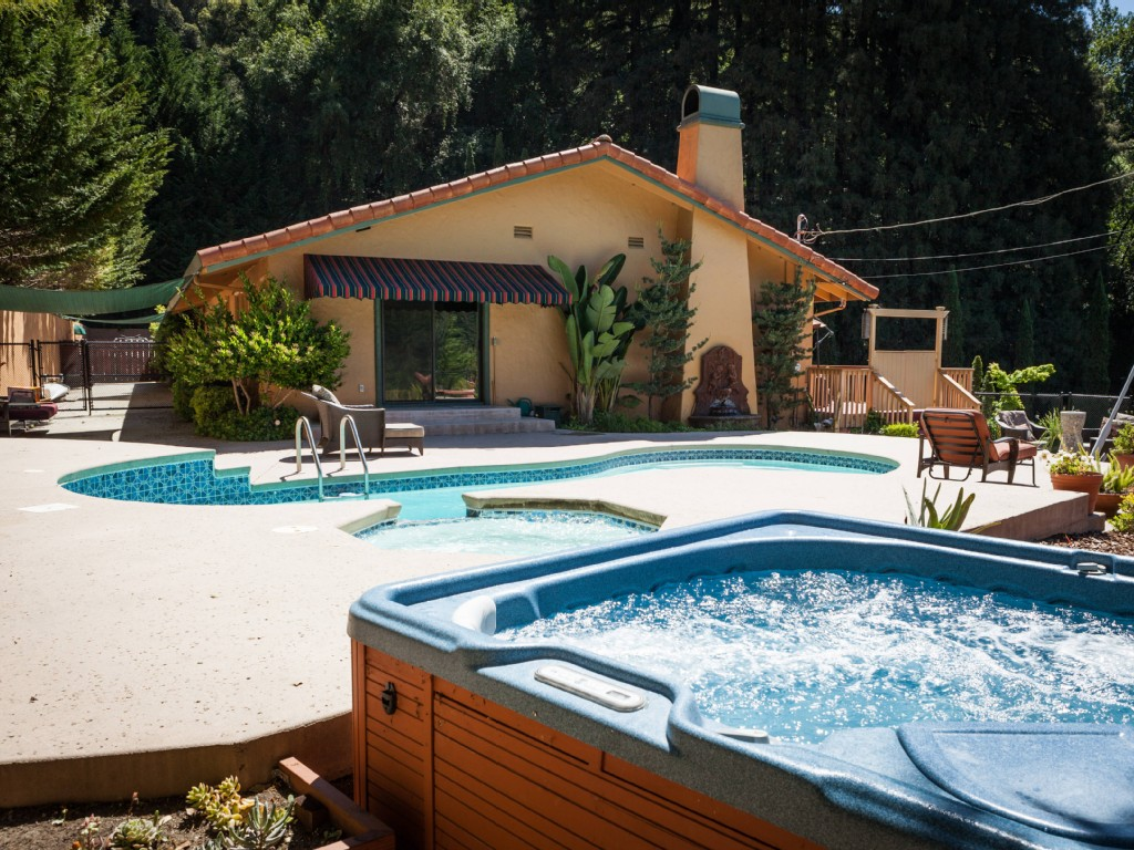 An oasis in a sunny mountainside forest. Yours to enjoy all year long!