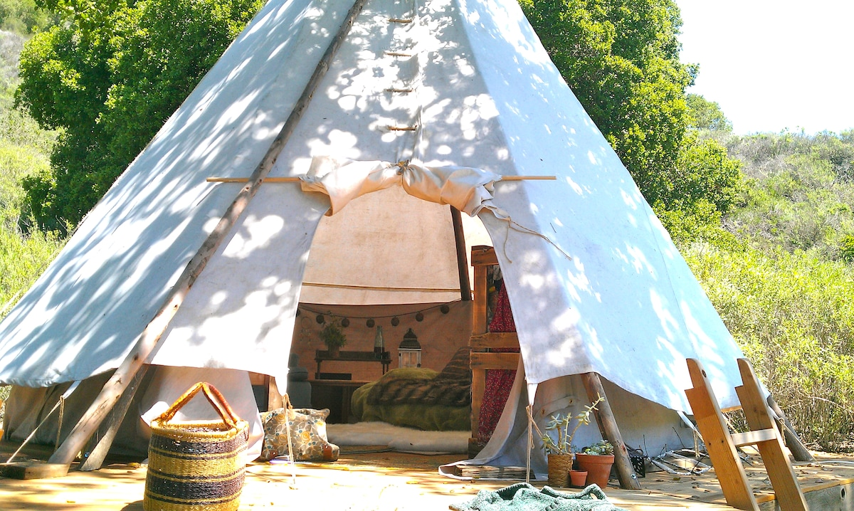Tipi Glamping in Wine Country