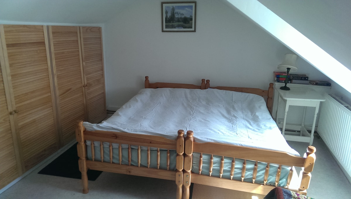 Double or twin bed with   custom-made storage