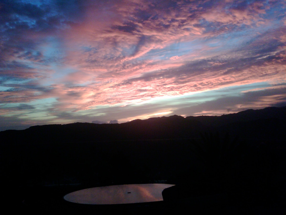 One of the many spectacular breathtaking sunsets.  Come for the food, return for the sunsets!