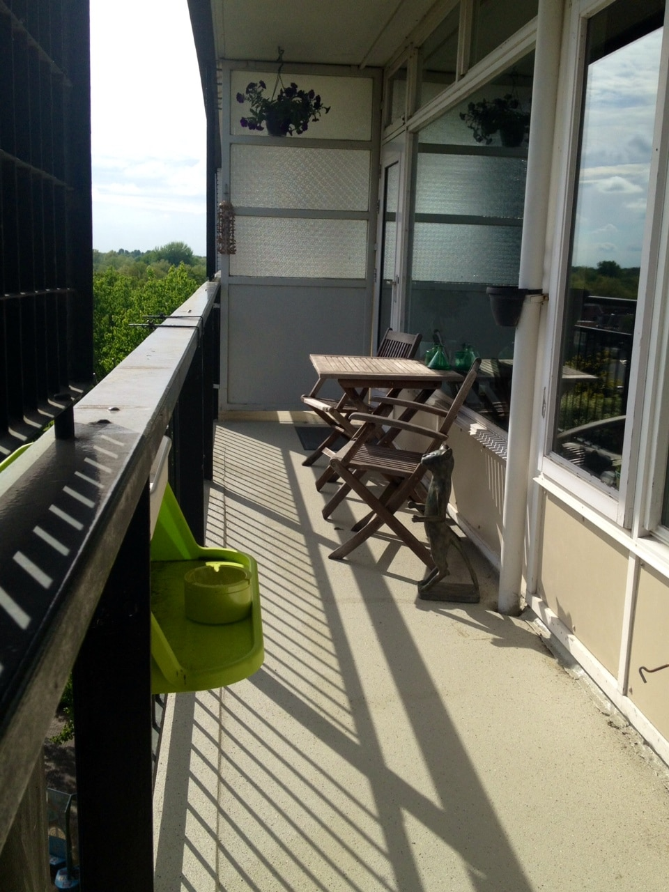Balcony, with sun from 11 till about 6 o'clock