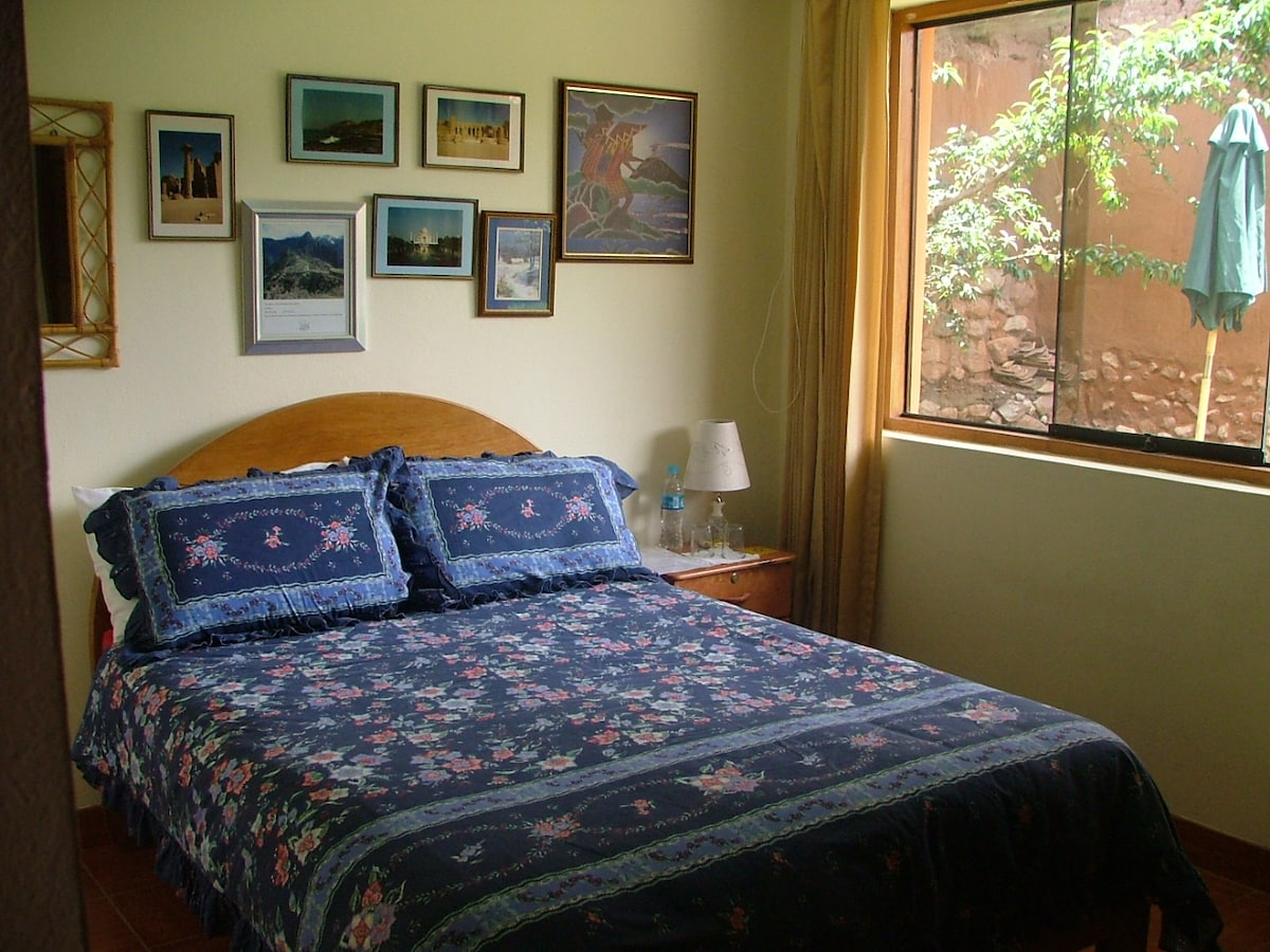 Double room with garden view, with separate bathroom