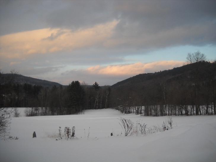 Winter sunset in Vermont!