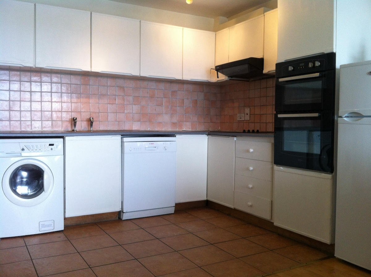 Fully fitted with fridge/freezer,washer/drier,dishwasher,oven/stove,hob,m/wave etc