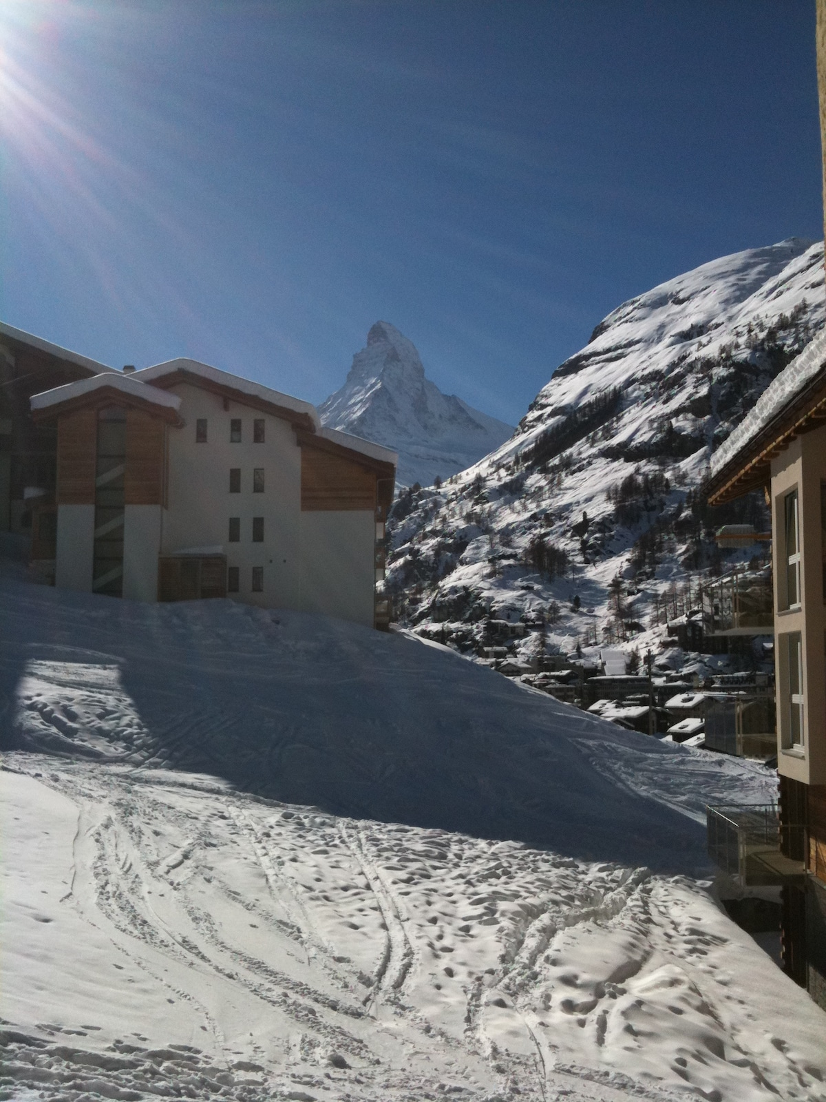 Cozy apartment with Matterhorn view