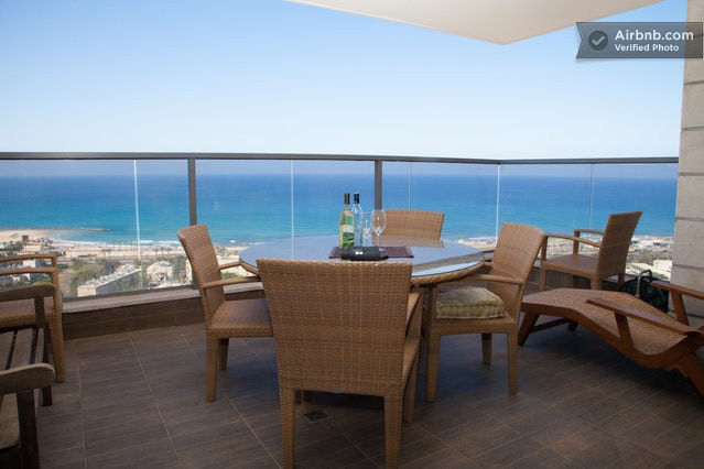 Balcony, great for meals, a wine glass