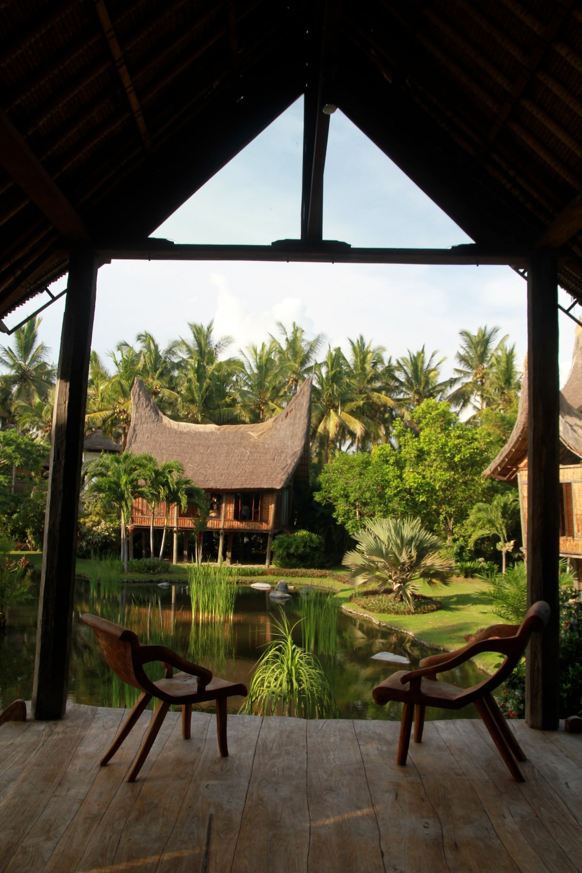 The view from the entry of Villa Agung