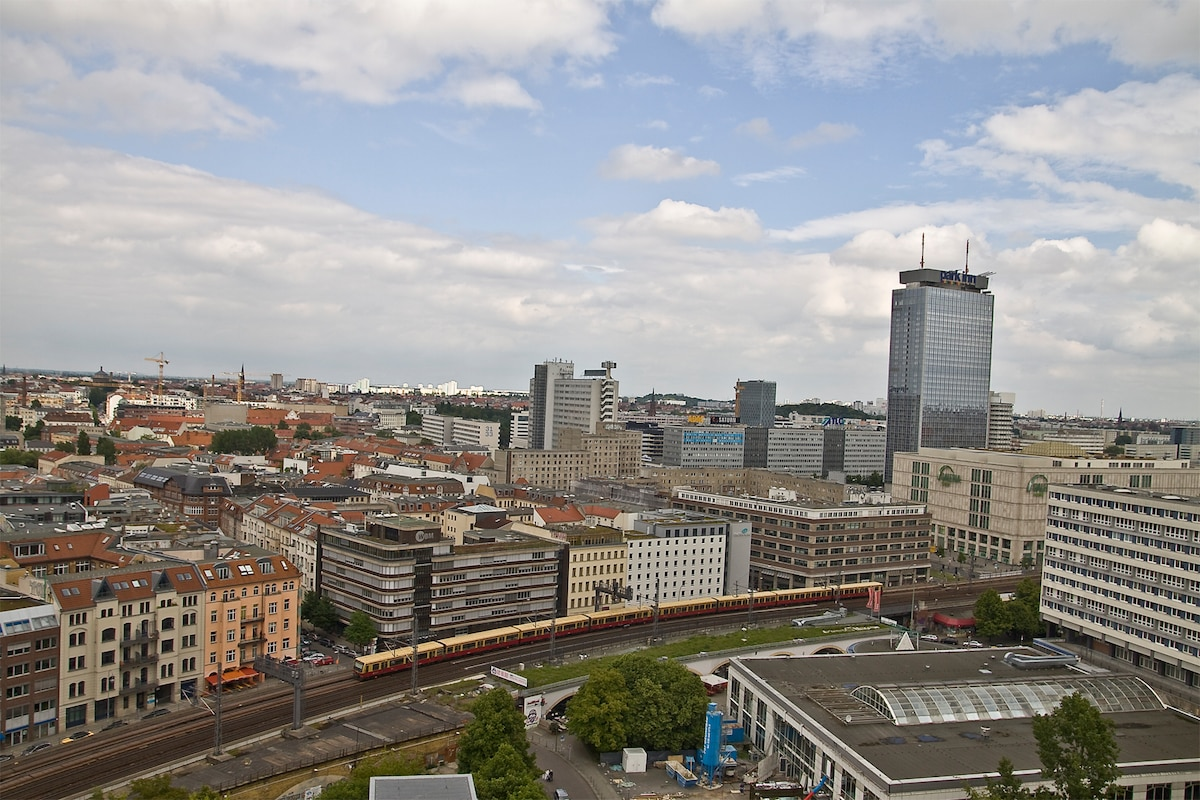 Panoramic wiew over the city center