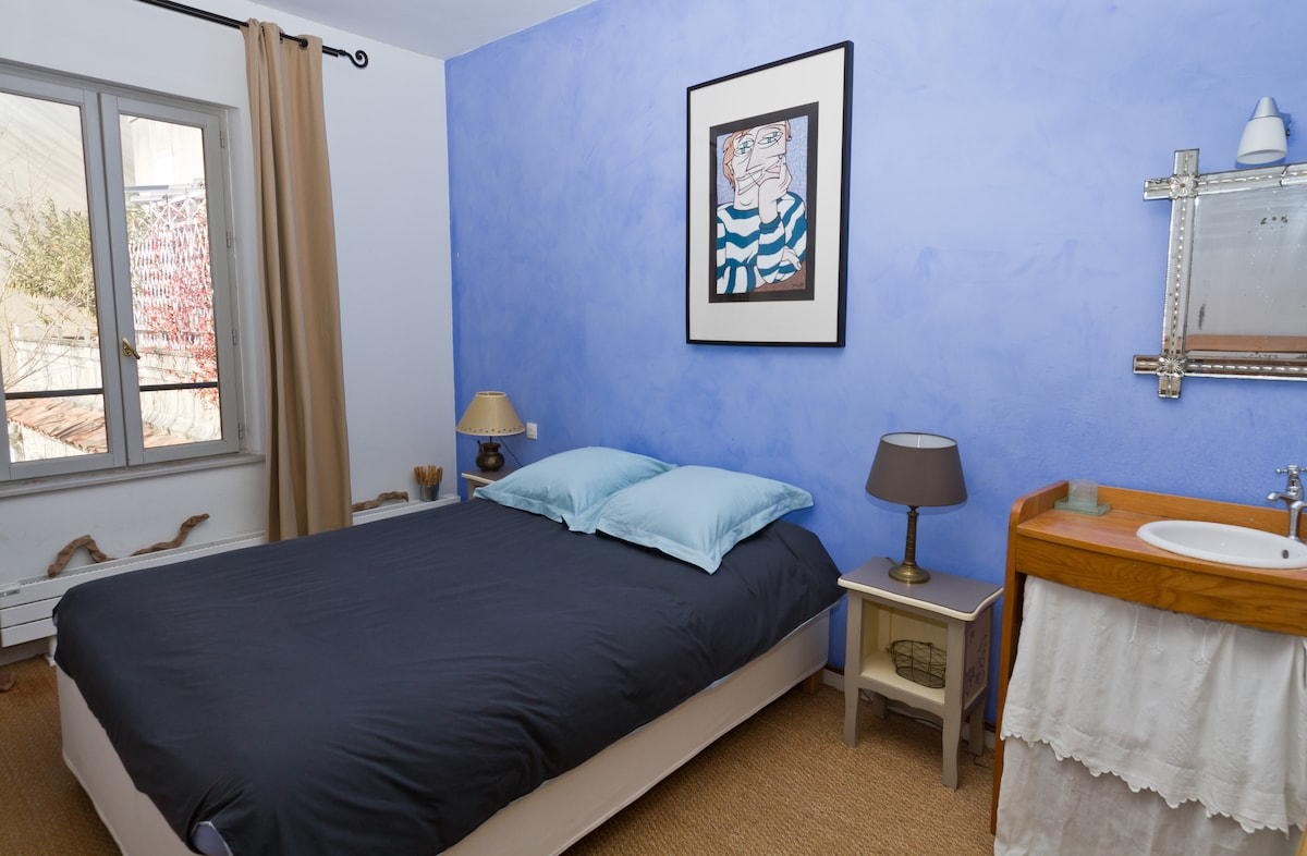 Votre chambre tout en bleu ;-)