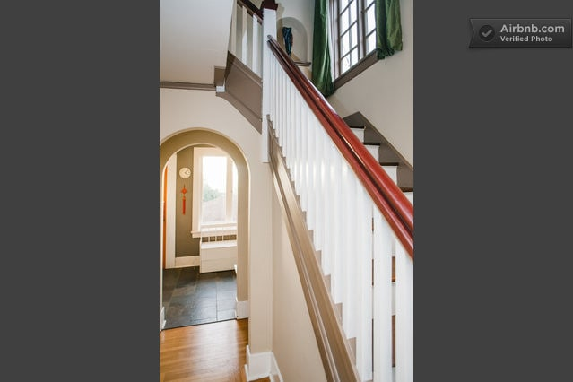 Entrance hallway and staircase to upstairs.