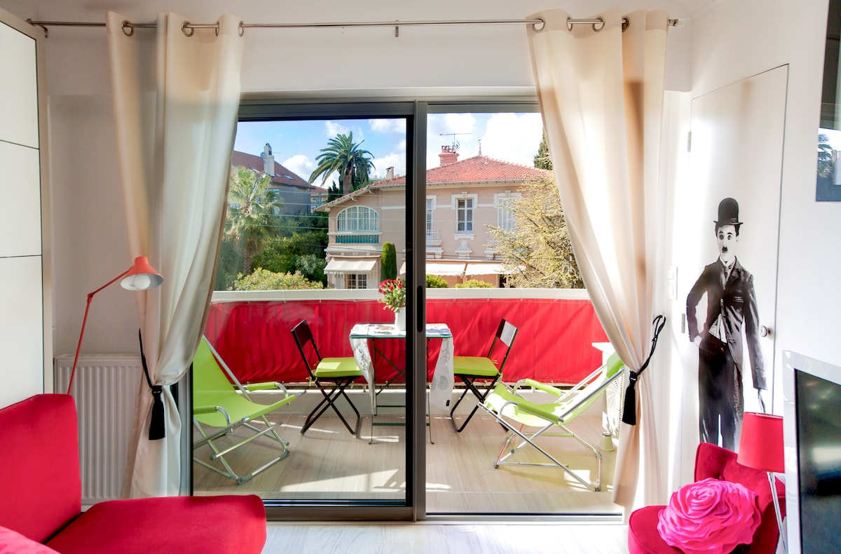 Secure and cozy studio in Cannes