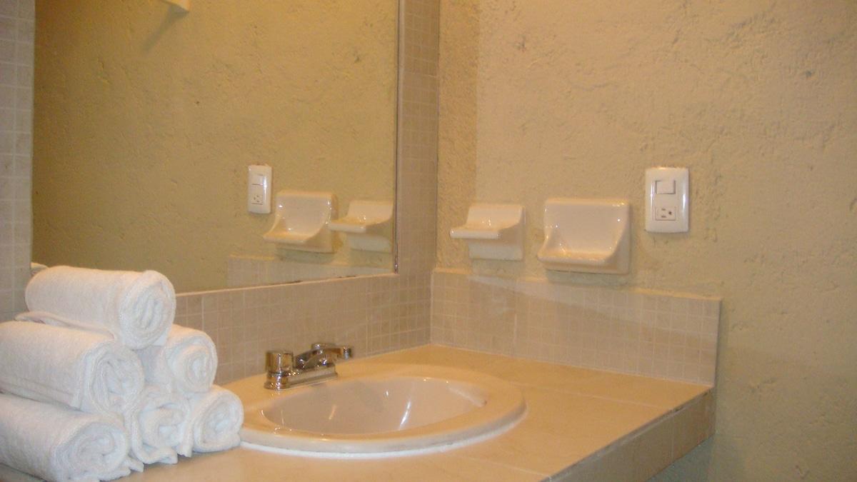Vanity area in the bathroom.