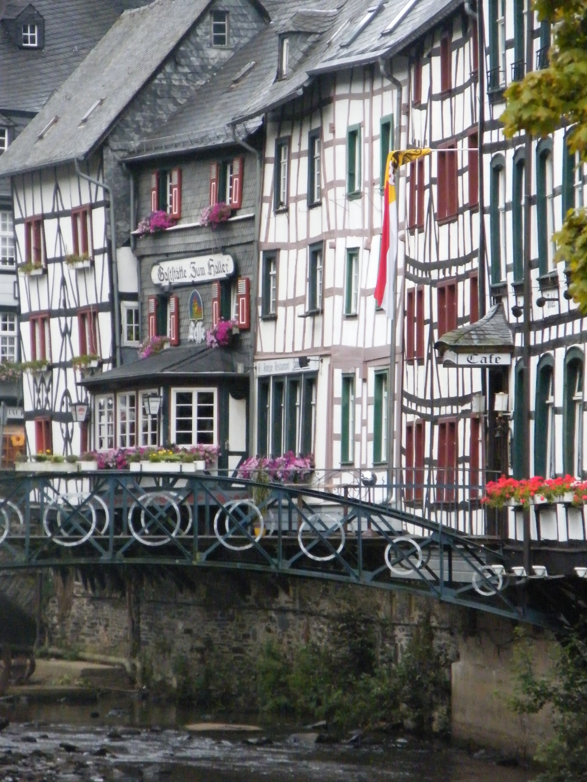 Above the slate roofs of Monschau