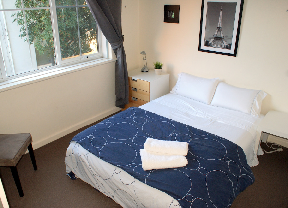 Your room. Double bed. Wireless internet in the room.