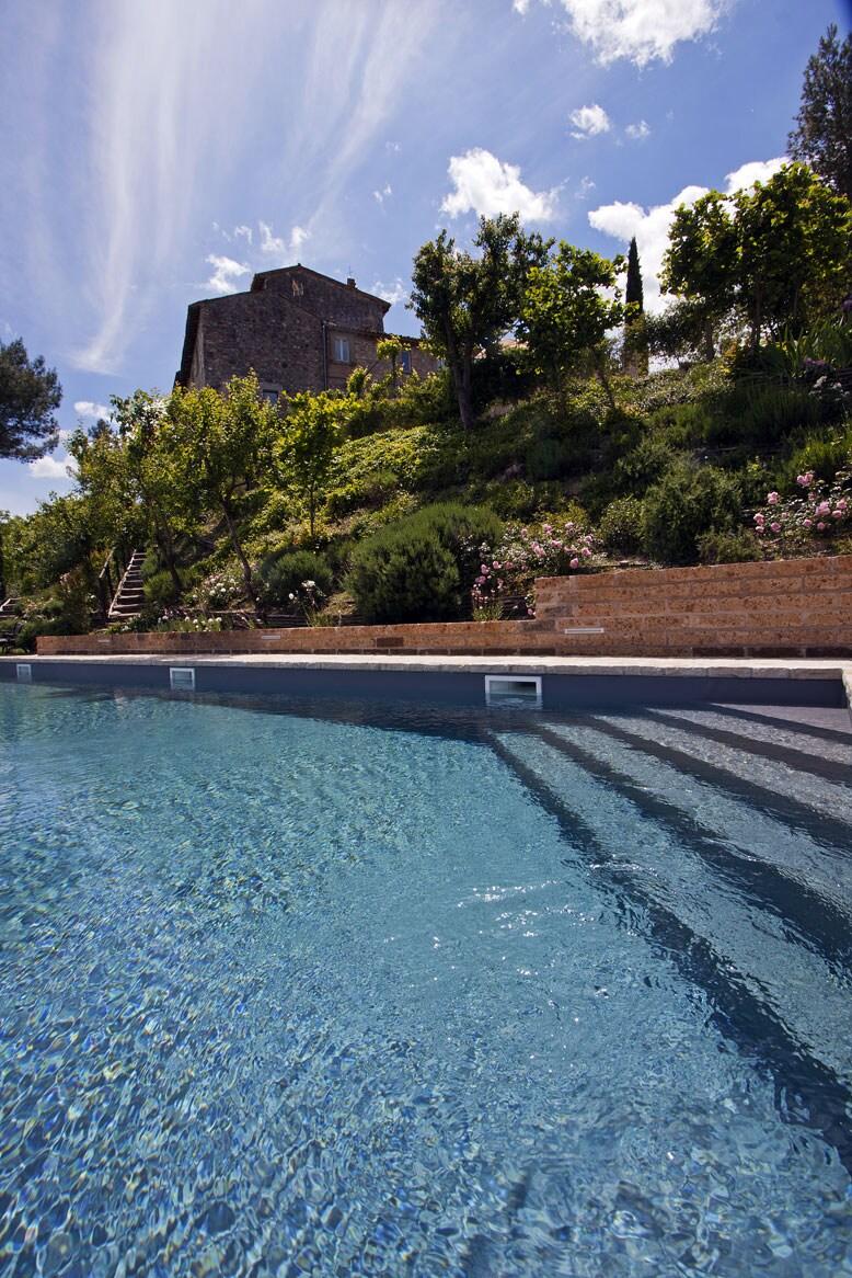 The panoramic swimming pool