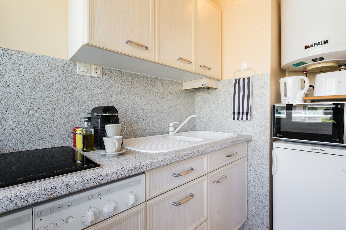 Fully equipped kitchen has everything you need.