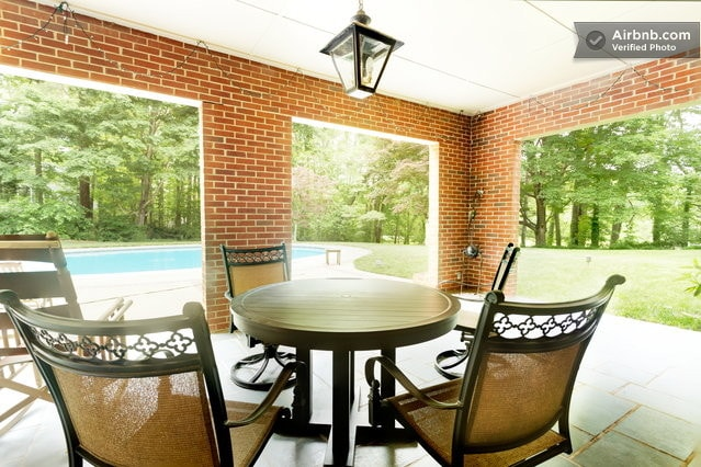 Enjoy a relaxing afternoon on the back patio.