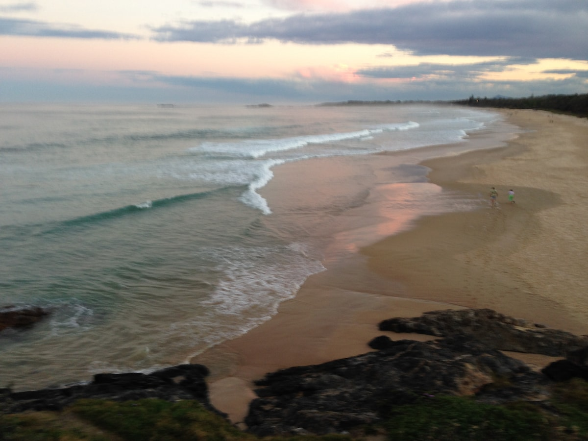 5 minute drive to stunning views from  Sawtell Headland